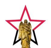 Звезда и иллюстрация ангела Стоковое Изображение RF