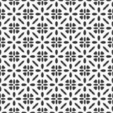 Звезда картины геометрии черно-белого вектора картины сафари современная безшовная, черно-белый конспект стоковое фото