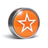 звезда кнопки 3d Стоковое Изображение