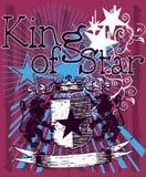 звезда короля grunge Стоковое Изображение