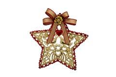 звезда красного цвета золота Стоковые Фото