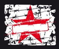 звезда красного цвета предпосылки Стоковое фото RF