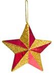 звезда красного цвета рождества Стоковая Фотография