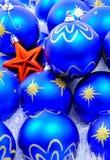 звезда красного цвета украшений рождества Стоковая Фотография