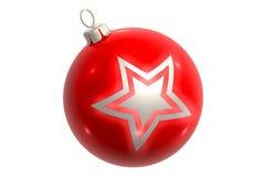 звезда красного цвета яркия блеска шарика иллюстрация вектора