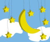 звезда луны Стоковые Фото