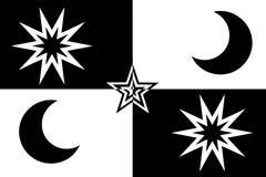 звезда луны Стоковые Изображения RF