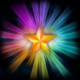 звезда лучей иллюстрация вектора