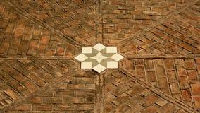 Звезда на поле, деталь мозаики замка Gibralfaro, Малаги Стоковая Фотография RF