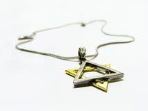 звезда ожерелья Давида Стоковые Изображения