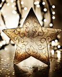 Звезда, орнамент рождественской елки стоковые изображения