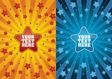 звезда партии flayer Стоковое Изображение RF