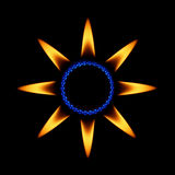 звезда пламен Стоковое фото RF