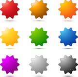 звезда покрашенного комплекта иллюстрация штока