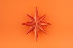 звезда померанца украшения рождества Стоковое Фото