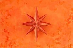звезда померанца украшения рождества Стоковая Фотография