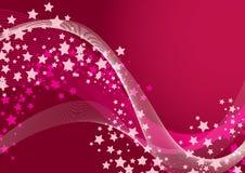 звезда предпосылки розовая Стоковое Изображение RF