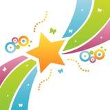 звезда предпосылки цветастая иллюстрация вектора
