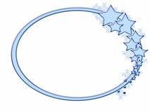 звезда рамки зимняя иллюстрация вектора