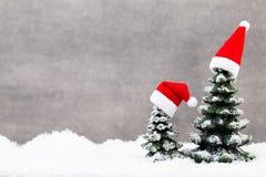 Звезда рождества и шляпа santa карточка 2007 приветствуя счастливое Новый Год Стоковые Изображения