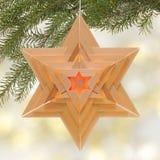 звезда светильника рождества форменная Стоковые Фотографии RF
