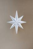 звезда серебра украшения рождества Стоковое Фото