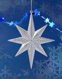 звезда серебра украшения рождества Стоковые Изображения RF