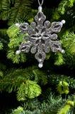 звезда серебра формы орнамента рождества Стоковые Фотографии RF