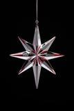 звезда украшения рождества красная серебряная Стоковое Изображение
