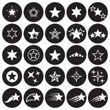звезда установленная иконами Стоковые Фото