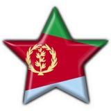 звезда формы флага eritrea кнопки иллюстрация штока
