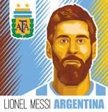 Звезда футбола Lionel Messi аргентинская иллюстрация вектора