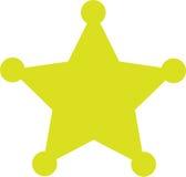 звезда шерифа иллюстрация вектора