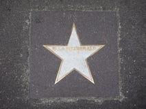 Звезда Эллы Fitzgerald джазового музыканта в болонья Стоковое Фото