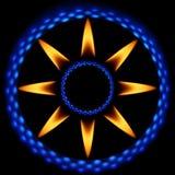 звезда 2 пламен Стоковая Фотография RF
