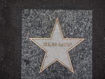Звезда Davis миль джазового музыканта в болонья Стоковое Изображение RF