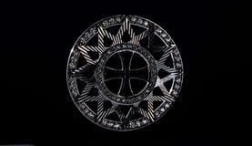Звезда Ertsgamma Силуэт на черной предпосылке стоковое фото