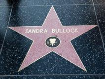 звезда hollywood sandra вола Стоковая Фотография