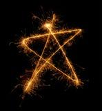 звезда sparkler рождества 5 угла стоковая фотография rf