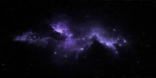Звездные система и межзвёздное облако Панорама, карта окружающей среды 360° HDRI Проекция Equirectangular, сферически панорама Стоковые Изображения RF
