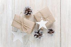 звезды абстрактной картины конструкции украшения рождества предпосылки темной красные белые Взгляд сверху Стоковая Фотография RF