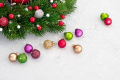 звезды абстрактной картины конструкции украшения рождества предпосылки темной красные белые Вал ели рождества с украшением Стоковое Фото