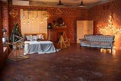 звезды абстрактной картины конструкции украшения рождества предпосылки темной красные белые Комната просторной квартиры внутрення Стоковое Изображение RF