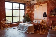 звезды абстрактной картины конструкции украшения рождества предпосылки темной красные белые Комната просторной квартиры внутрення Стоковое Изображение