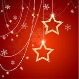 звезды абстрактной картины конструкции украшения рождества предпосылки темной красные белые абстрактная иллюстрация Форма EPS10 бесплатная иллюстрация
