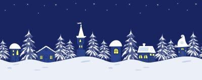звезды абстрактной картины конструкции украшения рождества предпосылки темной красные белые Ландшафт зимы сказки граница безшовна иллюстрация штока