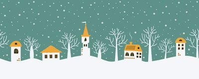 звезды абстрактной картины конструкции украшения рождества предпосылки темной красные белые Ландшафт зимы сказки граница безшовна иллюстрация вектора