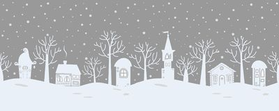 звезды абстрактной картины конструкции украшения рождества предпосылки темной красные белые Ландшафт зимы сказки граница безшовна бесплатная иллюстрация