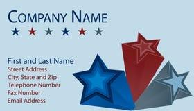 звезды визитной карточки 3d Стоковое Изображение RF