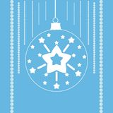 Звезды в шарике рождества Стоковые Фотографии RF